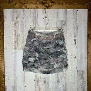 Diane Von Furstenberg Silk Ruffle Skirt